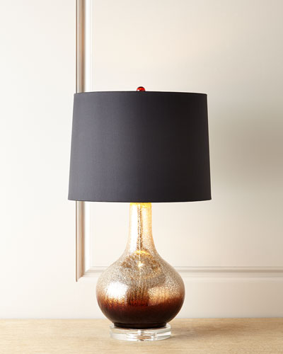 Chocolate Ombre Glass Lamp