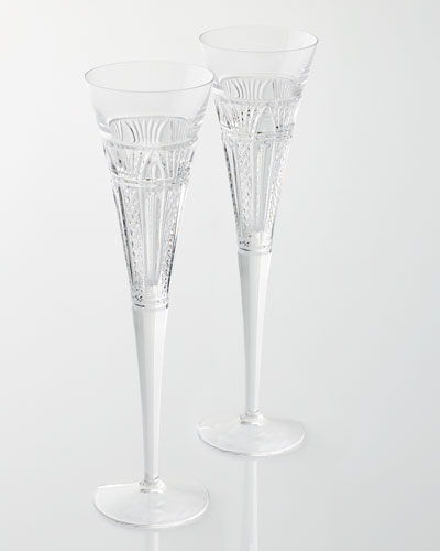 Two Times Square Clear Flutes