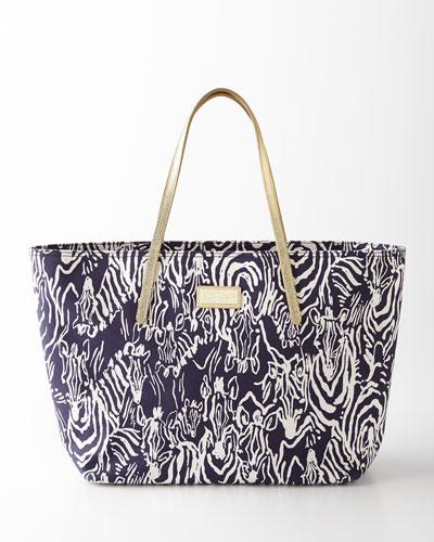 Bright Navy Entourage Tote