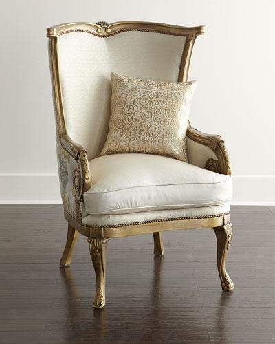 Golden Damask Chair