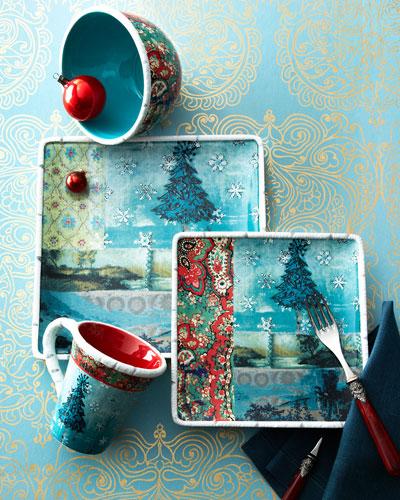 16-Piece Folklore Holiday Dinnerware Service