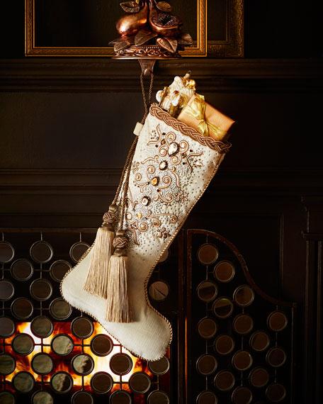 bejeweled christmas stocking - Elegant Christmas Stockings