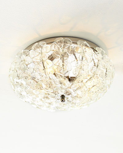 Glass Flower Ceiling Fixture