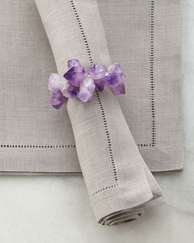 Purple Amethyst Napkin Ring