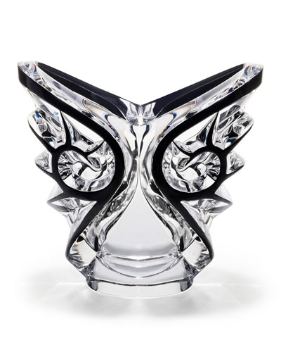 Tourbillons Oval Black/Clear Vase