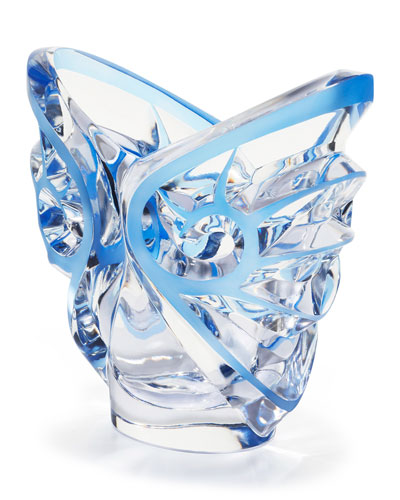 Tourbillons Oval Blue/Clear Vase