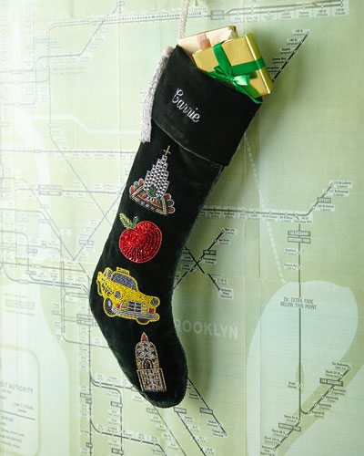 New Yorker Christmas Stocking