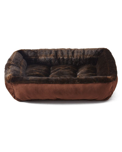 Faux-Fur Medium Dog Bed