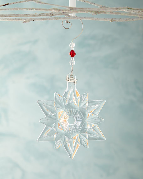 Waterford Crystal Christmas Ornaments.Waterford Crystal Annual Snow Crystal Christmas Ornament