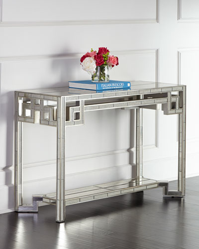 Lattice Mirrored Console
