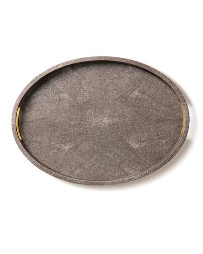 Modern Chocolate Shagreen Tray