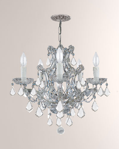 Maria Theresa 6-Light Clear Crystal Chrome Chandelier