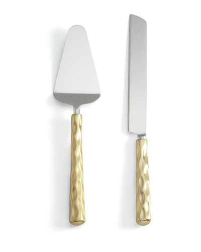 Truro Gold Cake Knife & Server