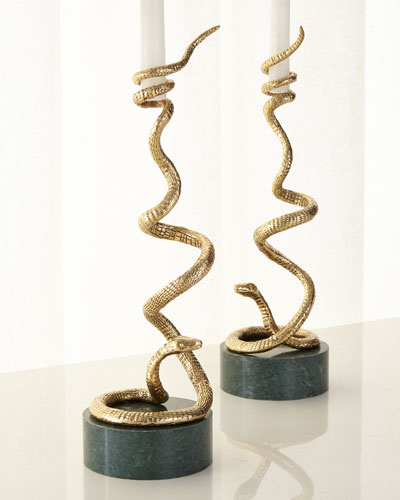 Rainforest Candleholder, Set of 2