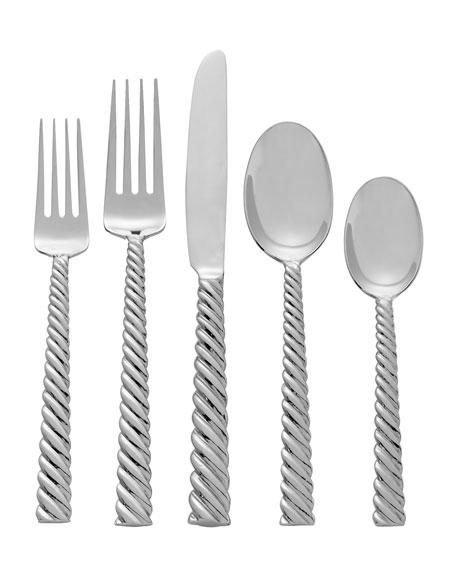 Michael aram twist 5 piece flatware set - Twisted silverware ...