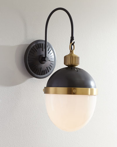 Blackened and Natural Brass Otis Sconce