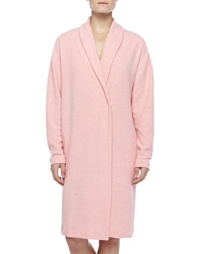 Aosta Fleece Short Robe, Rosa Sorbetto