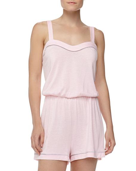 Cosabella Bella Satin-Trim Jersey Jumpsuit 274c82ab16e