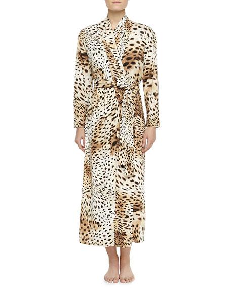 Natori Gabon Leopard-Print Jersey Robe e4fca7b71