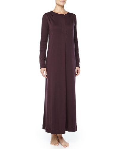 Bronx Mercerized Cotton Gown, Raisin