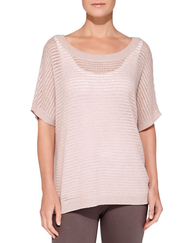 Cashmere Waffle-Knit Top