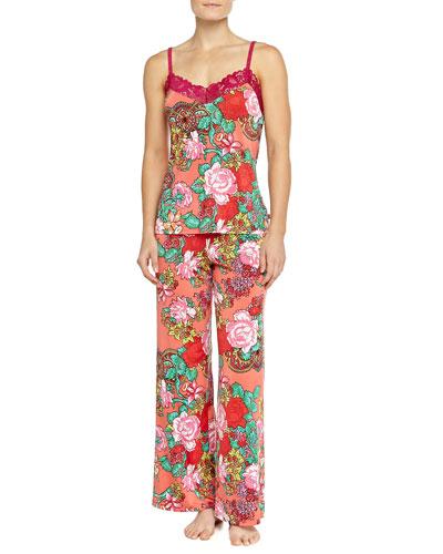 Raya Rose-Print Cami Pajama Set
