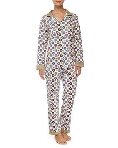 Shangrila Medallion-Print Pajama Set