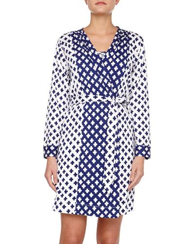 Ocean Breeze Pima Cotton Short Robe