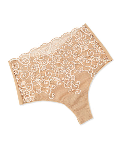 Double Take High-Rise Thong, Ivory