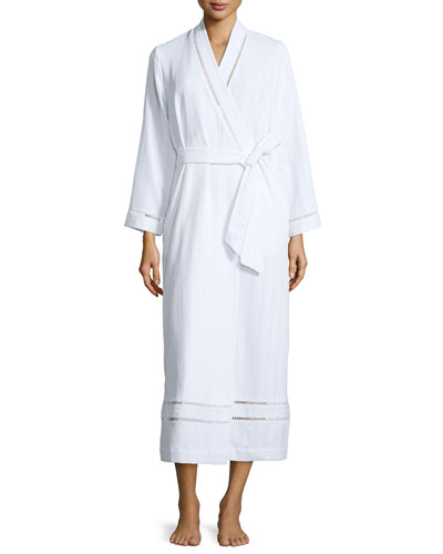 Luxe Spa Long Robe, White