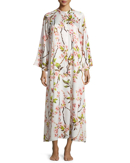 86d94ee961e Natori Blossom Zip-Up Caftan Dress
