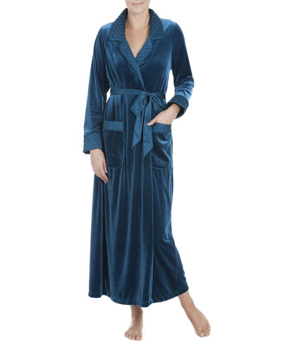Peacock Soft Robe, Blue