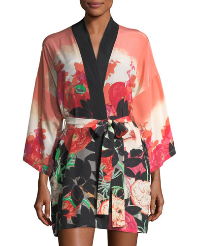 Gypsy Rose Short Silk Robe