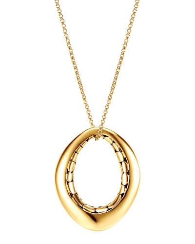 Kali 18k Gold Drop Pendant Necklace