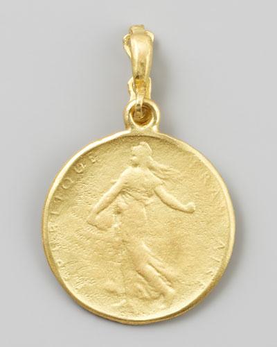 Goddess 18k Yellow Gold Classic Coin Enhancer