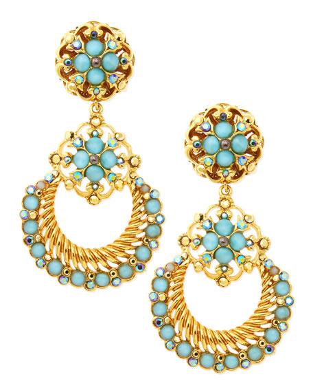 Jose maria barrera 24k gold plate chandelier clip on earrings seafoam 24k gold plate chandelier clip on earrings seafoam aloadofball Gallery