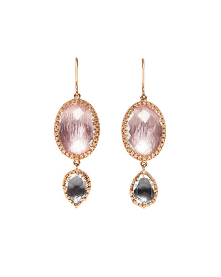 Larkspur & Hawk Sadie Double-Drop Earrings in Ballet & White Foil CkoeFjm