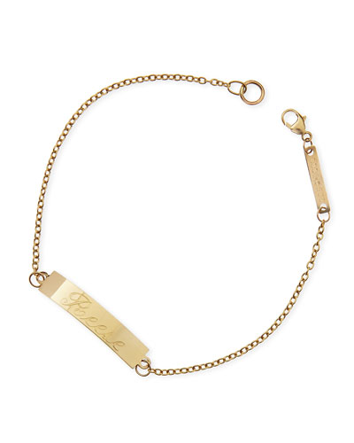 Personalized Gold ID Bracelet
