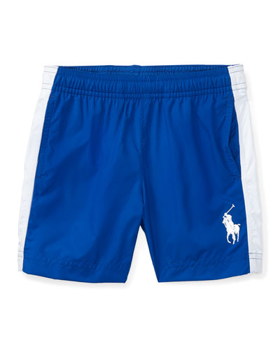 Lightweight Athletic Drawstring Shorts, Polo Blue, Size 2-4