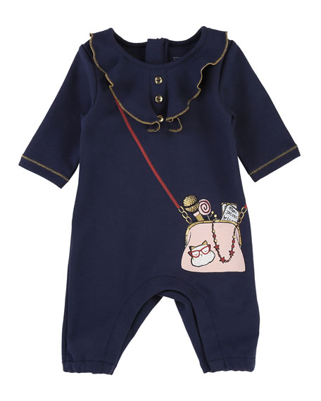Ruffle Trompe l'Oeil Coverall, Size 3-9 Months