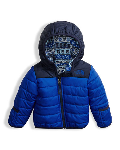 Reversible Perrito Quilted Jacket, Blue, Size 3-24 Months