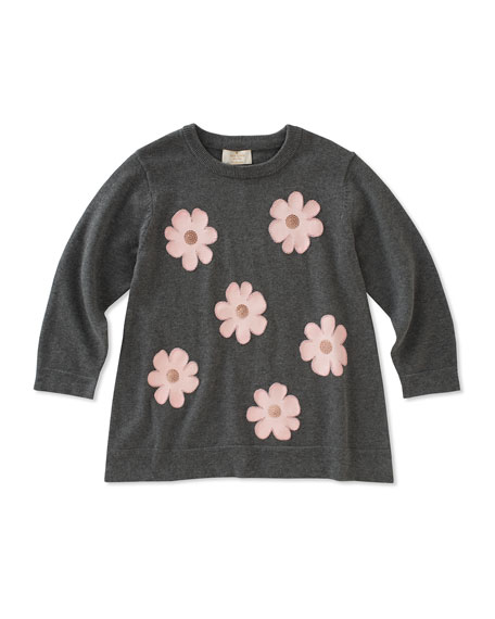 swing flower applique sweater, size 2-6