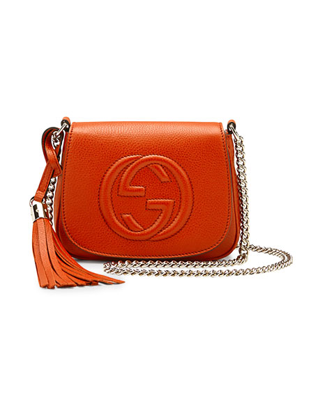 aed5d4d191712 Gucci Soho Leather Chain Crossbody Bag
