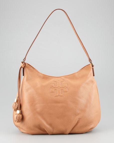 cc11f60cb8b4 Tory Burch Thea Pebbled Leather Hobo Bag