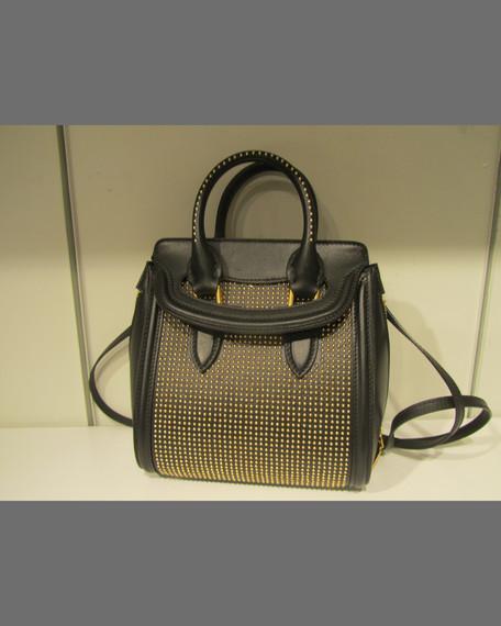 Alexander McQueen Heroine Studded Leather Mini Satchel Bag 5667e1bb4dadb