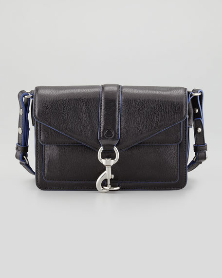 Hudson Moto Mini Crossbody Bag Black Blue