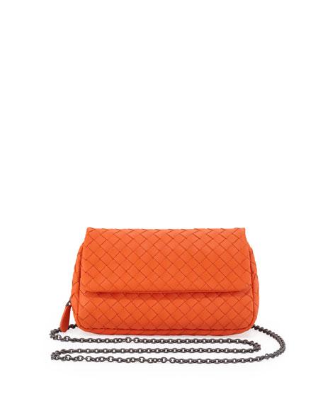 Woven Mini Crossbody Bag Tangerine Orange