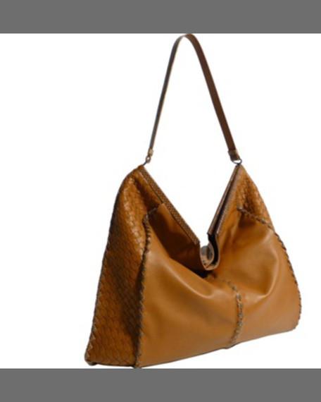 Bottega Veneta XL Frame-Top Leather Hobo Bag 68557f6ec964e