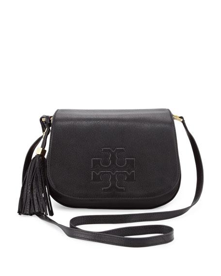 3b13f01e9da Tory Burch Thea Crossbody Saddle Bag, Black