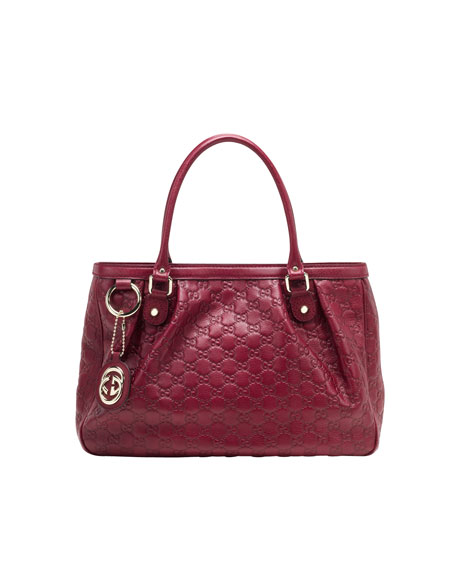 189d6fc88051 Gucci Sukey Large Guccissima Leather Tote Bag, Raspberry Red